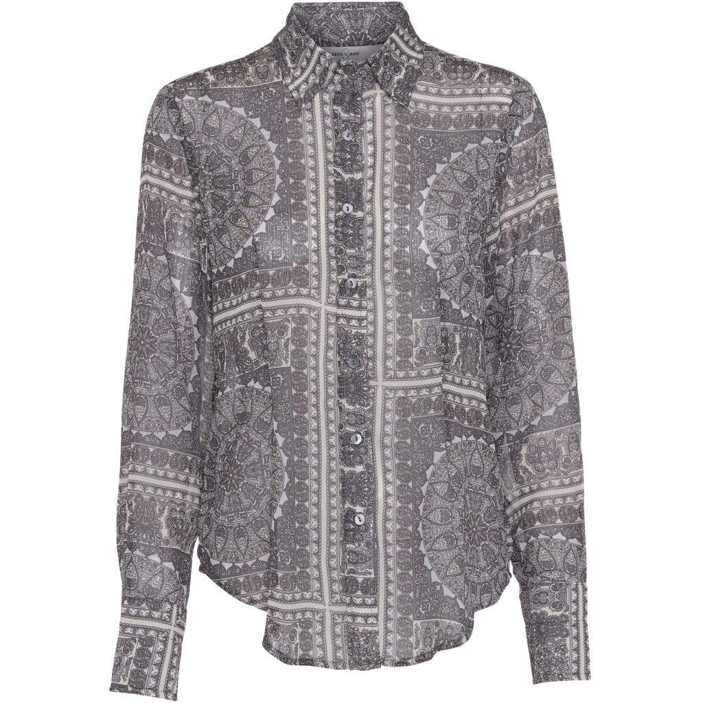 Costamani bluse i gråt print