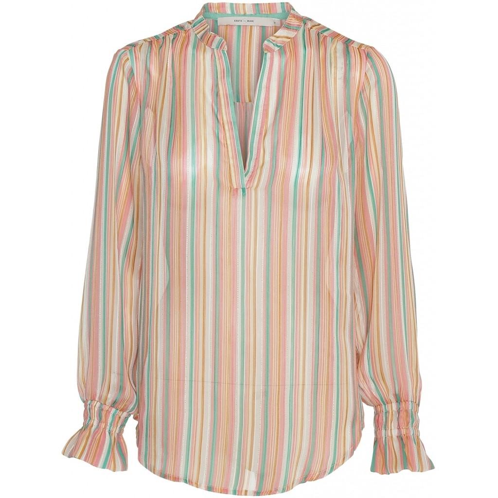 Costa Mani bluse i smukke lyse farver.