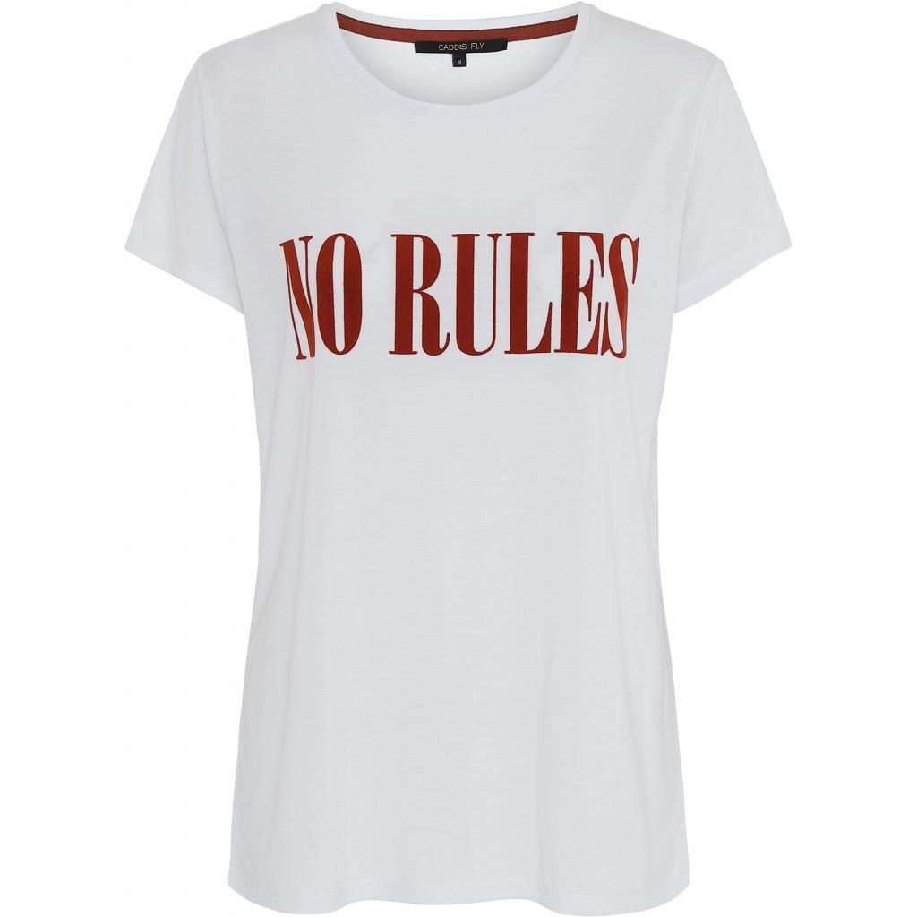 Caddis Fly t-shirt med skrift foran