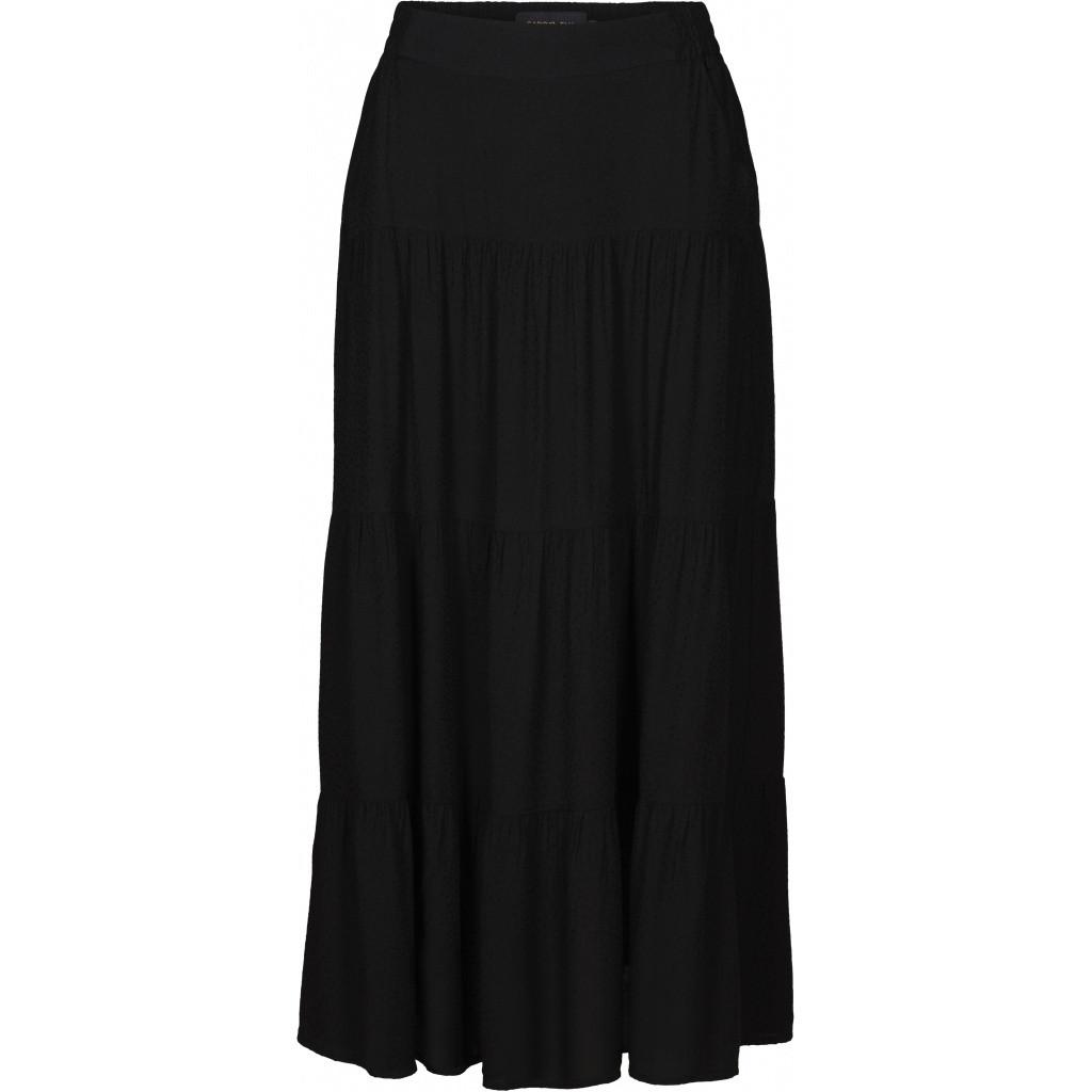 Caddis Fly sort nederdel med elastik i taljen