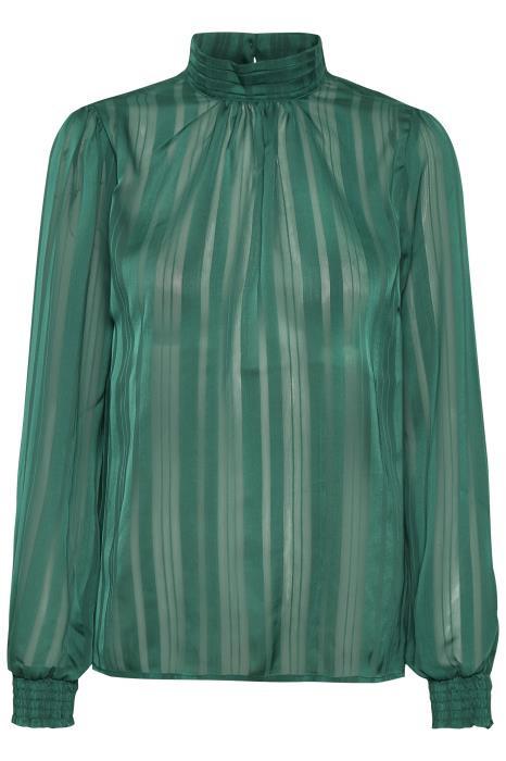 Saint Tropez elegant bluse i grøn.