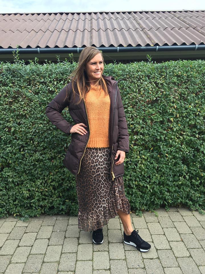 Lækker vinterfrakke med gåsedun Stella Long fra TicketWoman