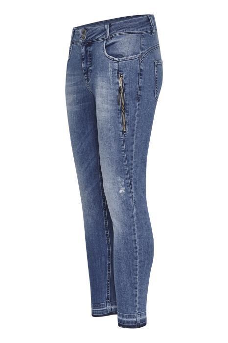 c5e27f6f Denim Hunter lys jeans med detaljer - Designere