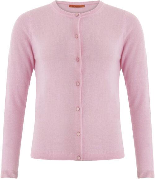 COSTER Cashmere cardigan i støvet rosa