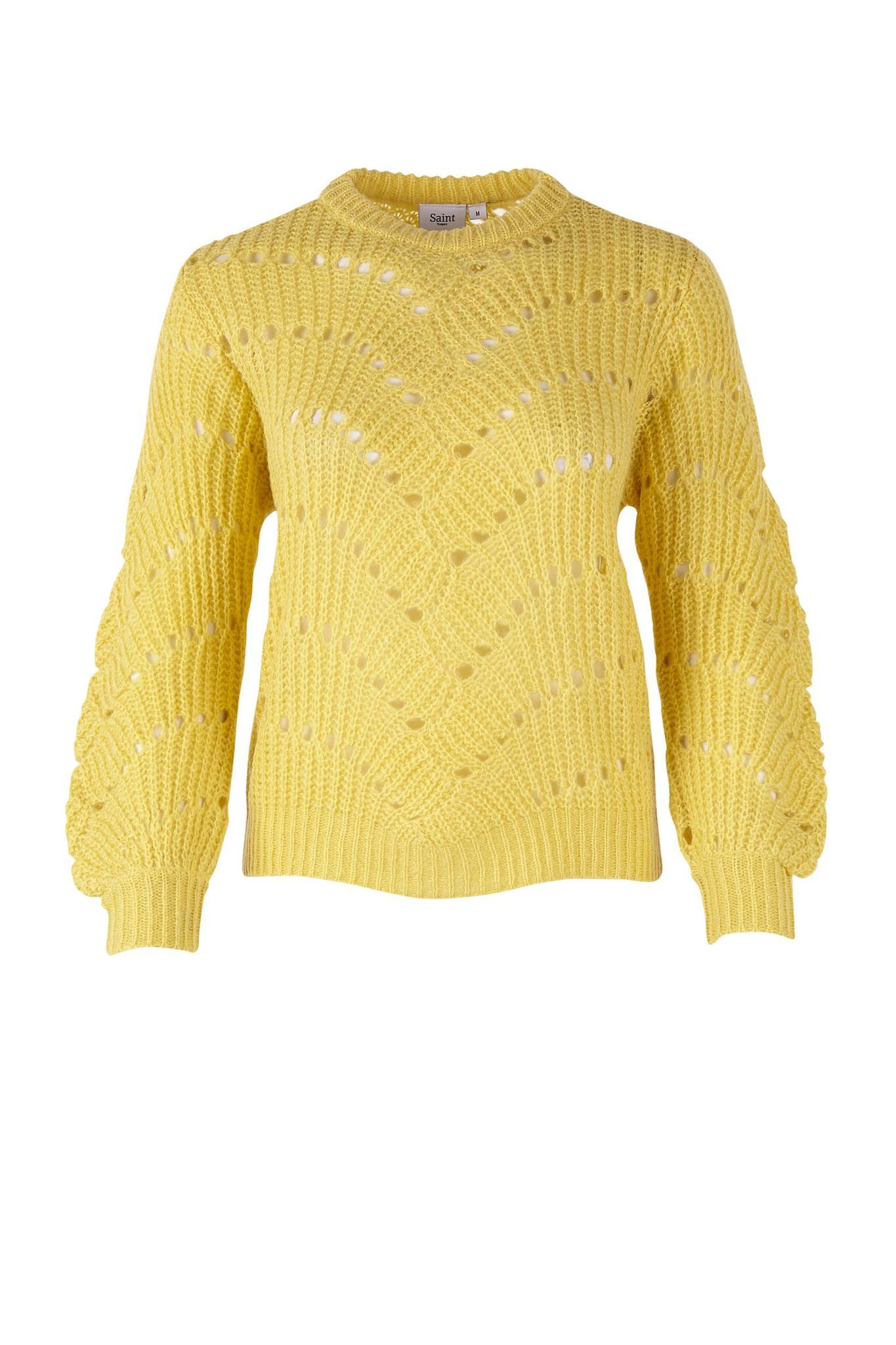 c769a9bce21 Saint Tropez strik i en smuk gul farve - Strik - Tøj