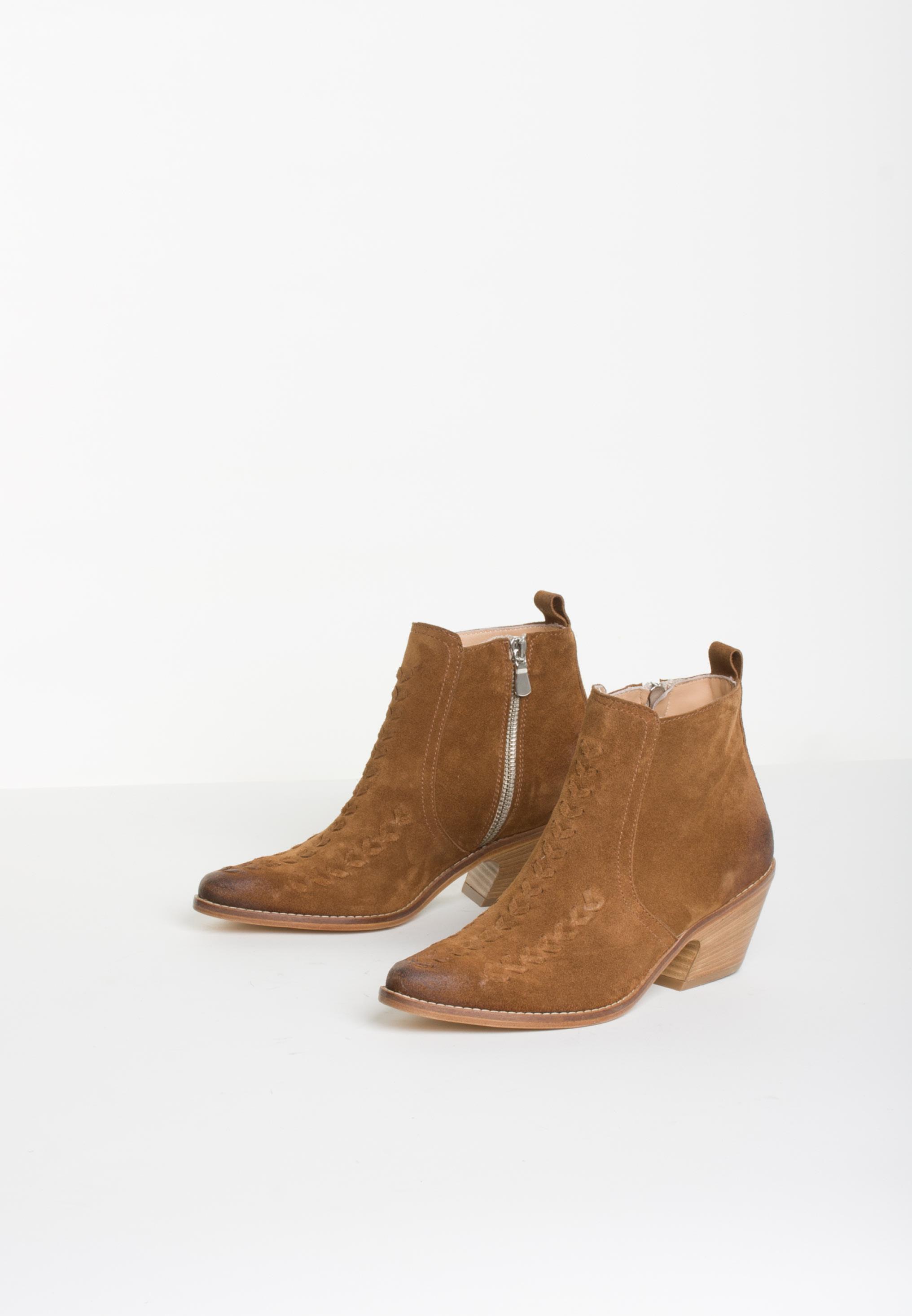 Bukela western støvle i cognac
