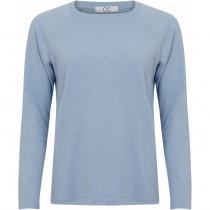 COSTER langærmet t-shirt i lyseblå