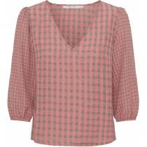 Costamani bluse i rosa med grønlig tern