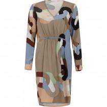 COSTER kjole i et smuke grafisk print.