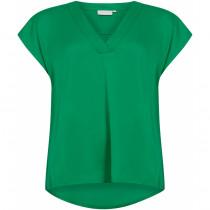 COSTER græsgrøn bluse med korte ærmer