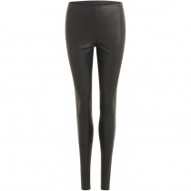 COSTER sort læder leggings
