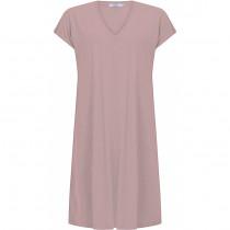 COSTER T-shirt kjole med korte ærmer i rosa
