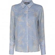 Caddis Fly lyseblå skjorte med print