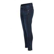 Denim Hunter mørkeblå jeans med lynlås forneden.