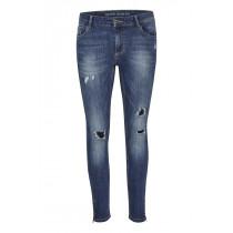 Denim Hunter jeans med slid og mellemblå farve