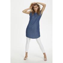 Denim Hunter mørkeblå kjole med hvide striber