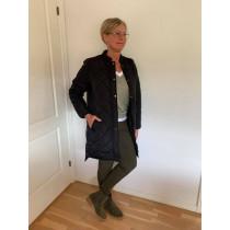 Saint Tropez sort jakke i quiltet kvalitet