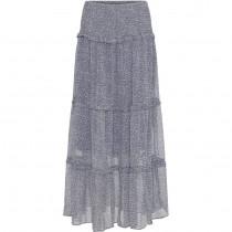 Costa Mani maxi nederdel i blåt print.