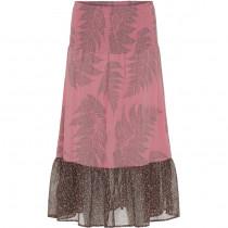Costa Mani lang nederdel i lyserød print