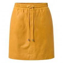 Depeche gul lammeskinds nederdel