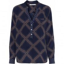 Costa Mani mørkeblå bluse