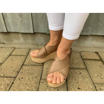 Tim & Simonsen super let sandal i lys sand