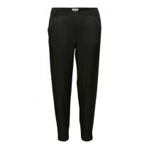 Part Two sorte bukser med hvide striber i siden.