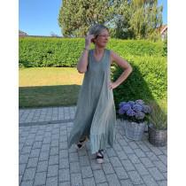 Cabana Living grå/grønlig sommerkjole
