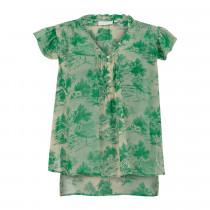 COSTER bluse i et smukt grønt print.