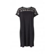Saint Tropez kjole i sort med blonde foroven