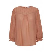 Saint Tropez rust farve bluse