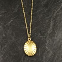 Pure By Nat kæde med vedhæng i guldbelagt