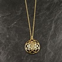 Pure By Nat kæde med guldbelagt vedhæng