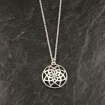 Pure By Nat kæde med sølvbelagt vedhæng