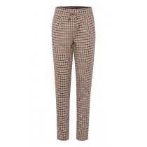 ICHI ternet bukser i brune farver.