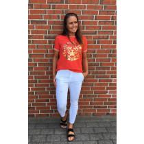 Caddis Fly rød t-shirt med print