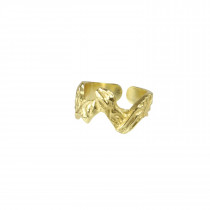 Pure By Nat guldbelagt zig zag ring