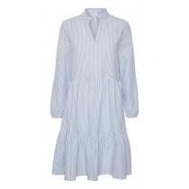 Saint Tropez lyseblå kjole med striber