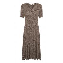Saint Tropez brun kjole med prikker