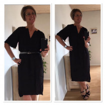 Saint Tropez sort kjole
