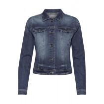 ICHI denim jakke i mellemblå