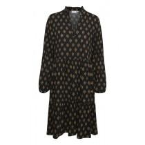 Saint Tropez sort kjole med brunt motiv