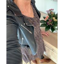Saint Tropez mesh kjole i brunlige farver