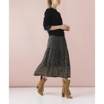 Saint Tropez sort nederdel med blomsterprint