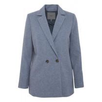 ICHI mellemblå uld blazer