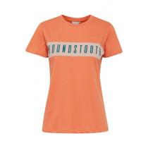 72e6303f3c4 ICHI orange t-shirt med skrift foran