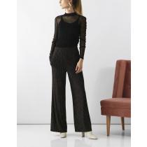 Saint Tropez sorte bukser med guld tråd