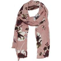 Part Two tørklæde i rosa med blomster