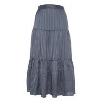 ICHI blå/grå nederdel