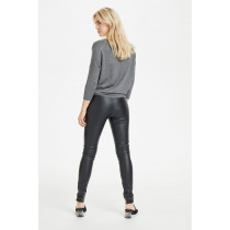 Saint Tropez sort leggings i pu